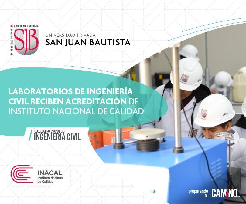 laboratorios ingenieria civil acreditacion inacal dario gonzales zarpan UPSJB